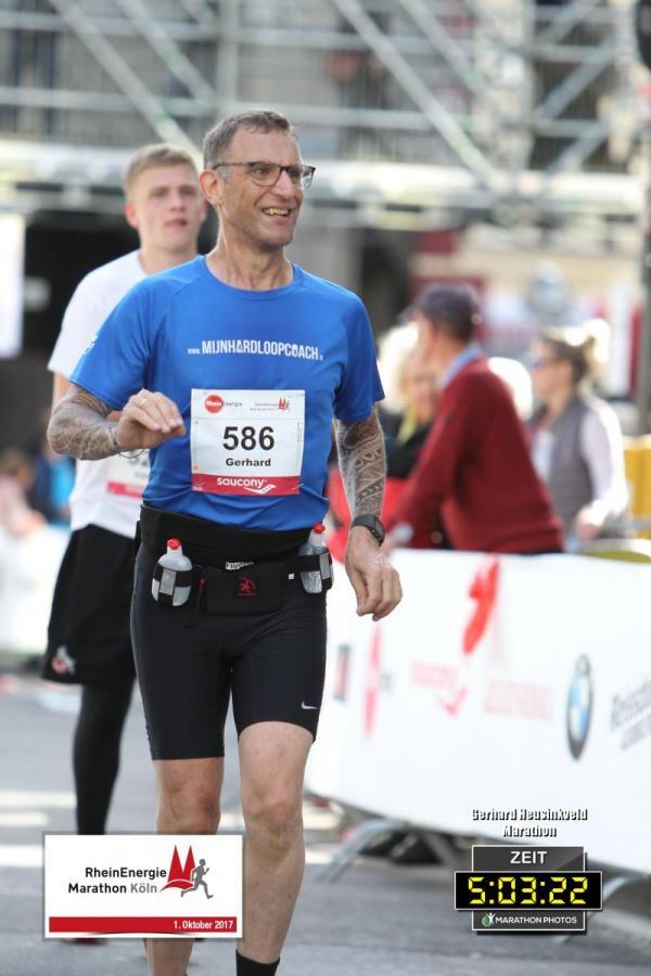 Marathon Keulen 2017 - finish in zicht