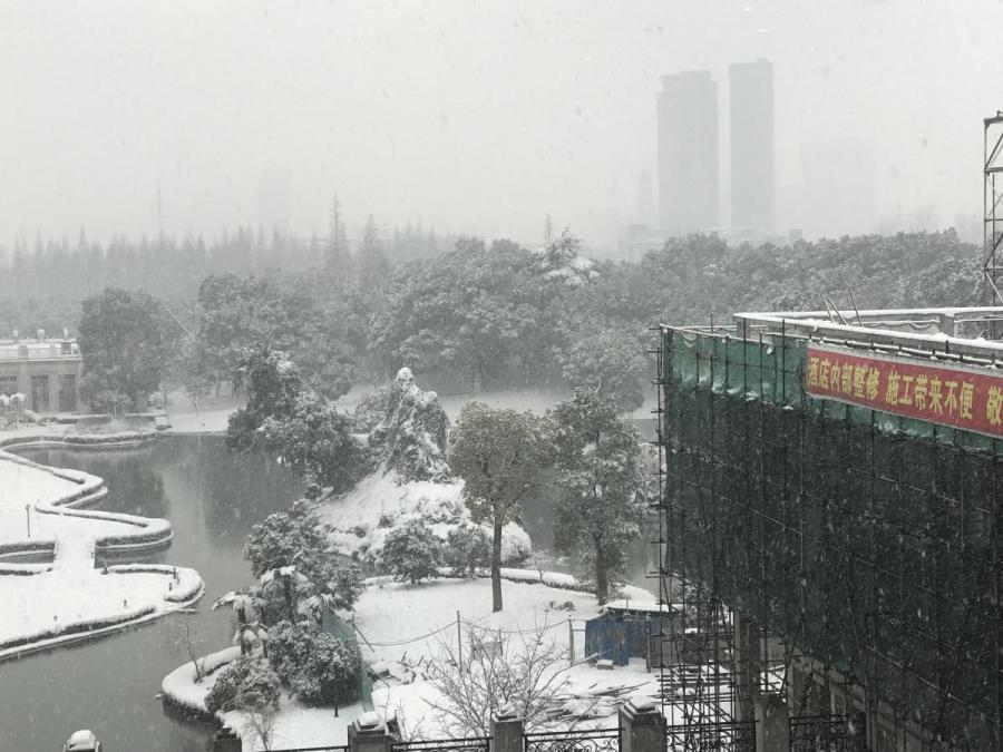 Sneeuwval in Jiangyin