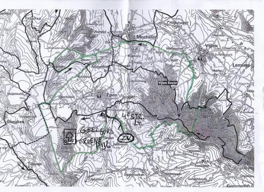 Afgelegde mountainbike route